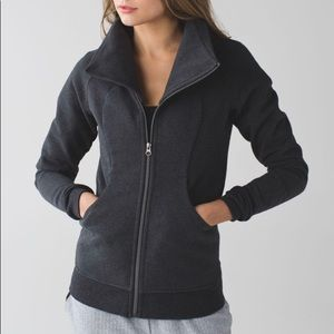 Lululemon Cozy Cuddle Up Jacket Heathered Black